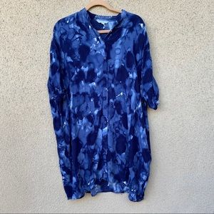 & other stories tie dye button down tunic dress 8